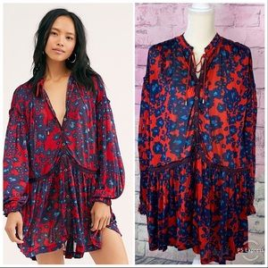 Free people love letter tunic small NWT